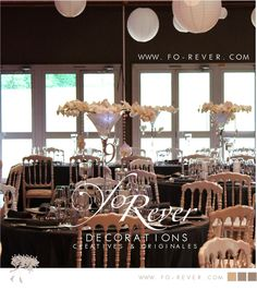 centre de table forever vase martini mariage
