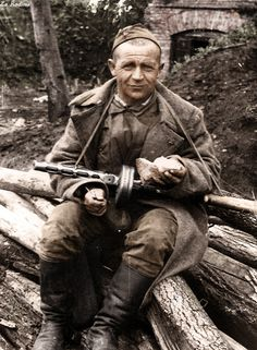 soviet soldier ww II, The Soviet Union lost more people to the Nazis than any other nation. They fought a greater distance than any other Allied Force. And it has recently been admitted that if not for Russian Soldiers pushing German Troops the Normandy invasion may not have succeed.