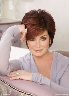 Sharon Osbourne makes a great red head
