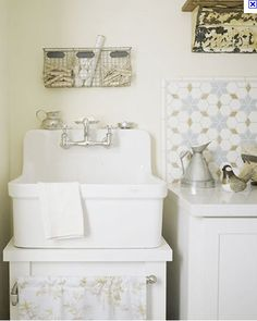 Kohler Gilford Sink in our Laundry Room #patinafarm #GiannettiHome | Our  House: Patina Farm | Pinterest | Flower, Vintage