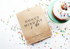 Donut Favor Bag  Wedding Favor Bags  Personalized Wedding image 4