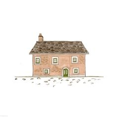 358. Wide Framed House  | Rebecca Horne, illustration