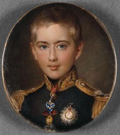 Prince Pedro de Bragança (future King Pedro V) painted in 1853 by Johanes Moller - National Museum of Ancient Art Portuguese Royal Family, Maria Amelia, Dom Pedro Ii, Royals Today, Royal Throne, Romanov Sisters, Miniature Portraits, Royal Jewelry, Sketch Painting