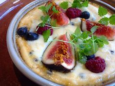 Polenta porridge with figs, maple and currants. [Top Paddock Cafe - Richmond, Melbourne]
