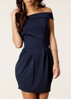 Slim Off Shoulder Zigzag Sleeveless Short Dress 40cf1390480e