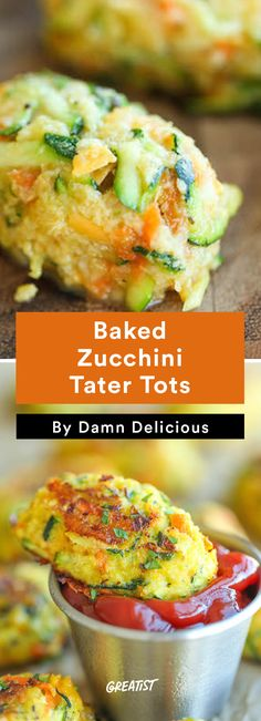 6. Baked Zucchini Tater Tots #healthy #zucchini #lowcarb #recipes http://greatist.com/eat/low-carb-zucchini-recipes