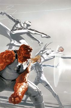Spider Man,Invisible Woman,Mr Fantastic & The Thing by Gabriele Dell'Otto