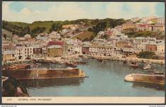 General View, Mevagissey, Cornwall, c.1960s - Harvey Barton Postcard