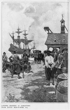 The Landing at Jamestown from a Dutch Man-of-War Canvas Art - Howard Pyle x History Timeline, Us History, African American History, History Facts, History Education, Family History, Black Hair History, Jamestown Colony, Jamestown History