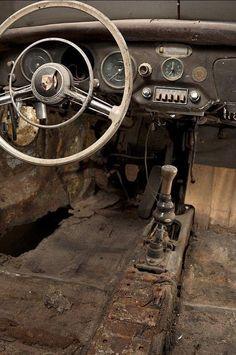 tokyo-bleep: 1958 Porsche Cabriolet by Michael Grados Porsche 356a, Porsche Cars, Chevrolet Bel Air, Abandoned Cars, Abandoned Places, Abandoned Vehicles, Volkswagen, Pompe A Essence, Vw Vintage