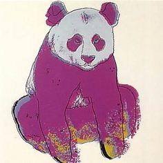 Andy Warhol, Endangered Species: Giant Panda, 1983