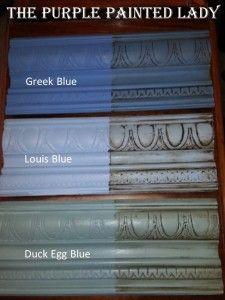 Louis Blue Duck Egg Blue Greek Blue The Purple Painted Lady Comparison