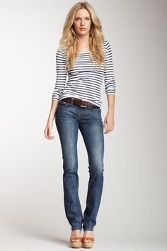 Nikki Straight Leg Jean by David Kahn on @HauteLook