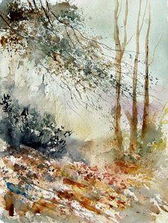 "Saatchi Online Artist: Pol Ledent; Watercolor 2013 Painting ""watercolor 080605"""