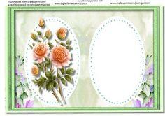 Incert Green Floral  on Craftsuprint - Add To Basket!
