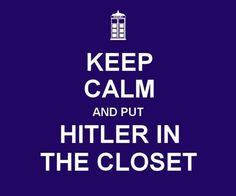 Hitler's in the closet. Tom Cruise is in the  closet. Now I'm in the closet, too. #southpark #doctorwho