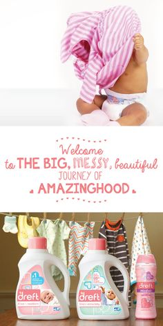 Welcome to the big, messy, beautiful journey of parenthood! Dreft Home products will help to keep your new baby girl or baby boy clothes clean and fresh! Grab a coupon here.