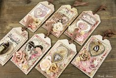 Treasures Of Love Tags — Frank Garcia Studio Card Tags, Gift Tags, Atc Cards, Love Tag, Handmade Tags, Paper Tags, Artist Trading Cards, Vintage Tags, Tag Art