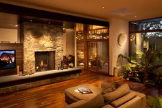 Modern Warmth - Energy Efficient New Construction with Open Modern Design - contemporary - Living Room - Minneapolis - The Chuba Company