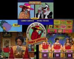 Where in the World is Carmen Sandiego? I watched the TV show and played the computer game.