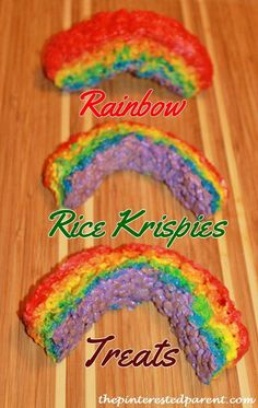 Rice Krispies Treats Rainbows