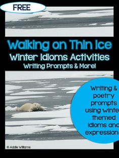 winter idioms activities - 6th grade