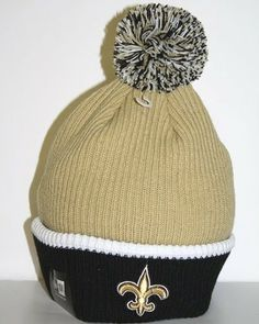 Men's New Orleans Saints New Era Black/Gold 2-Tone Cuffed Knit Hat