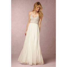 Anthropologie Naya Wedding Guest Dress ($350) ❤ liked on Polyvore featuring dresses, nude, tulle dress, beaded cocktail dress, sequin tulle dress, anthropologie dresses and anthropologie