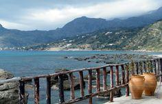 Plakia Beach Greek Islands, Holiday Destinations, Greece, Places To Visit, Mountains, World, Beach, Summer, Travel