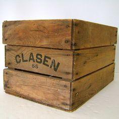 BAR Shelving: Vintage Wood Crate
