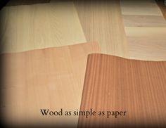 Legno semplice come la carta / Wood as simple as paper