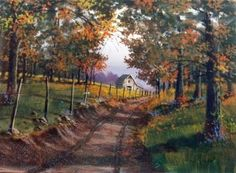 artist jerry yarnell | Image detail for -Jerry Yarnell 8832 Fall Road art dvd - how to paint ...