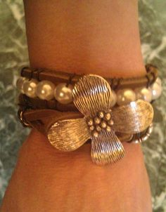 Original Wesblock Leather Wrap Bracelet by SimplyYue on Etsy, $25.00