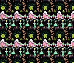 Hansel and Gretel fabric by spicysteweddemon, available from Spoonflower