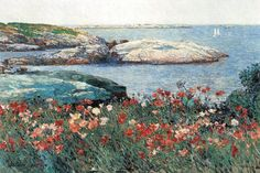 Poppies, Isles of Shoals, by Frederick Childe Hassam