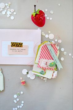 Crate Paper Blog - darling invite idea