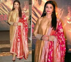 Aishwarya Rai Sizzles In A Sabyasachi Dress At The Sarabjit Poster Launch Sabyasachi Dresses, Nikkah Dress, Saree, Anarkali, Diwali Outfits, Bollywood Outfits, Wedding Sherwani, Ethnic Outfits, Ethnic Clothes