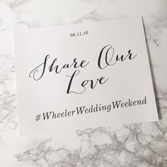 Custom Wedding Hashtag Wedding Signs by TheChicShopCo on Etsy