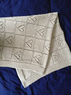 Hearts Baby Blanket knitting project by GRACE