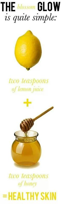 Honey has natural anti bacterial properties and acts as an antioxidant. Lemon offers acne fighting acid.