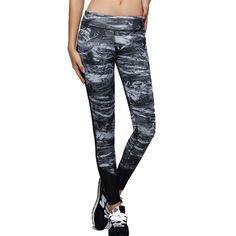Womens Pants Yoga Running Sports Elastic Female Tights Ladies Trousers Woman Sports Leggings Fitness Print Pants
