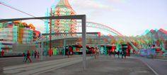 https://flic.kr/p/GjV2MH | Blaak Rotterdam 3D | anaglyph stereo red/cyan