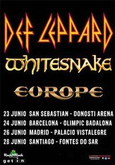 Ya puedes comprar las entradas para ver el concierto de Def Leppard, Europe y Whitesnake en Santiago de Compostela