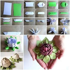 DIY Origami Lotus Flower 3