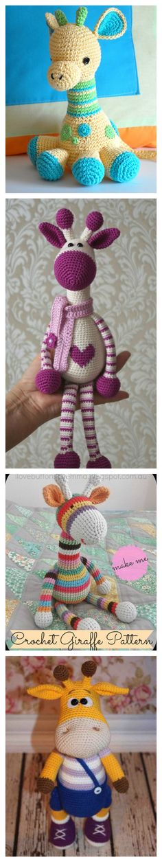 Adorable Crochet Giraffe Amigurumi Free Patterns