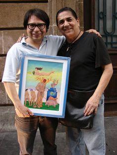 con Jesus Chairez, coleccionista.