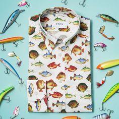 The Fish Print Shirt - Slim fit | Eton Shirts US