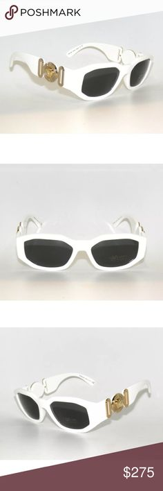 3d8cafe8865 Versace 4361 White and Gold Sunglasses Brand new Comes with Versace case