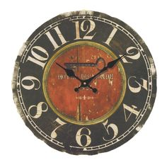 Wood Wall Clock, PeleusTech 14 Inch 'Hotel Du Monde' Vintage Silent Wooden Wall Clock Home Decoration - Style 2 ** Read more reviews of the product by visiting the link on the image. (This is an affiliate link and I receive a commission for the sales)