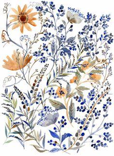 Floral watercolor - ❣ Relicário ❣ - http://makemyworldburn.tumblr.com
